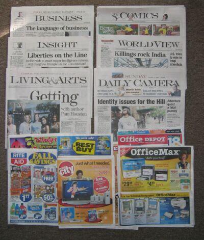 ボルダーの新聞 Daily Camera