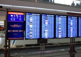 デンバー国際空港掲示板