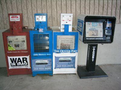 ボルダーの新聞販売