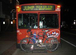 RTD バスに自転車を積む