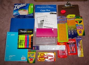アメリカの小学校の文房具の準備