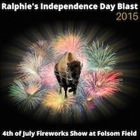 独立記念日 ボルダー 花火の打ち上げ