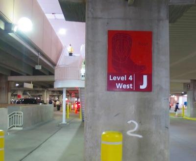 デンバー空港の駐車場