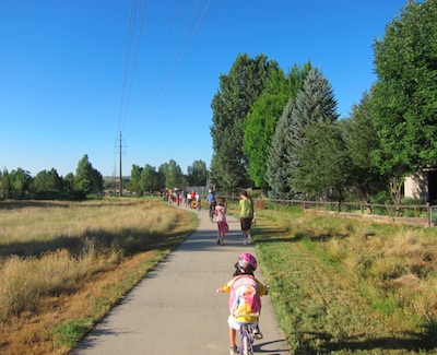 Elementary School Transit with Bike