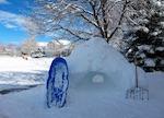 ボルダーの初雪