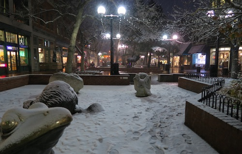 ボルダーの初雪 2016年 ダウンタウン